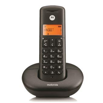 Teléfono inalámbrico Motorola Dect E201 Negro