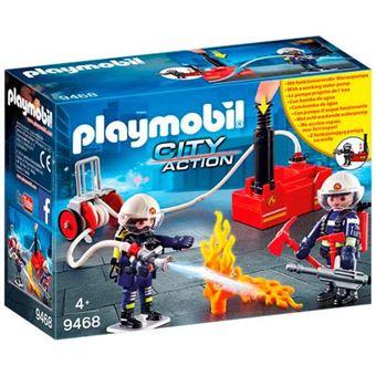 Playmobil City Action Bomberos con bomba de agua