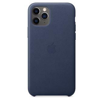 Funda de piel Apple Azul noche para iPhone 11 Pro Max