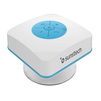 Altavoz Bluetooth Sunstech SPBTSHOWER Blanco/Azul