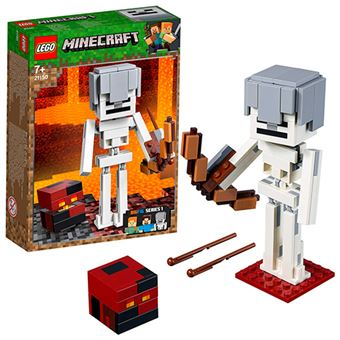 LEGO Minecraft 21150 BigFig: Esqueleto con Cubo de Magma