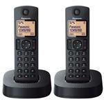 Teléfono inalámbrico Panasonic Dect Duo KX-TGC312SP Negro
