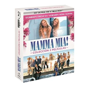 Pack Mamma Mia 1 + Mamma Mia 2 - UHD + Blu-Ray