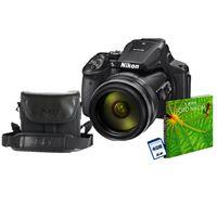 Cámara Bridge Nikon Coolpix B600 Negro + SD 4GB Kit