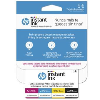 Plan HP Instant Ink de 15/50/100/300 páginas