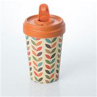 Taza de café para llevar Bamboocup Bright Hojas bambú
