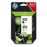 Pack tintas HP 302 Negro + Tricolor (CMYK)