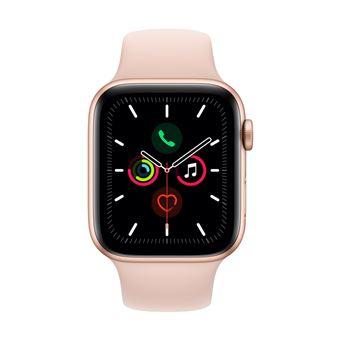 Apple Watch S5 44 mm GPS Caja de aluminio en oro y Correa deportiva Rosa arena