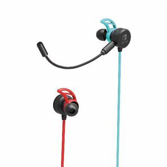 Auriculares Gaming Hori azul / rojo Nintendo Switch