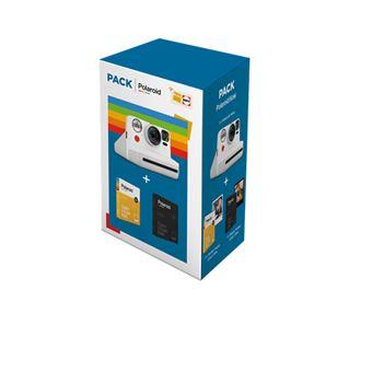 Cámara instantánea Polaroid Now Blanco + 2 Kits papel Pack