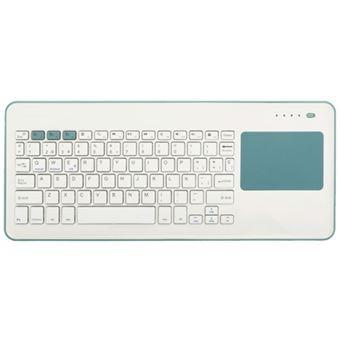Teclado táctil inalámbrico con Bluetooth Silver HT Blanco /Verde