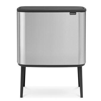 Cubo de basura Brabantia Bo Touch Bin 3 x 11 L Acero inoxidable