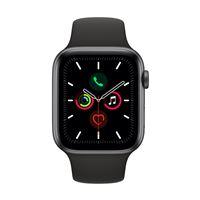 Apple Watch S5 44 mm GPS Caja de aluminio en gris espacial y Correa deportiva Negro
