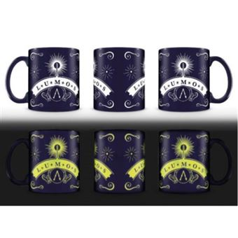 Set Tazas Harry Potter Lumos Glow in the Dark