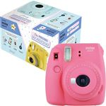 Cámara instantánea Fujifilm Instax Mini 9 Rosa + Mr Wonderful Pack