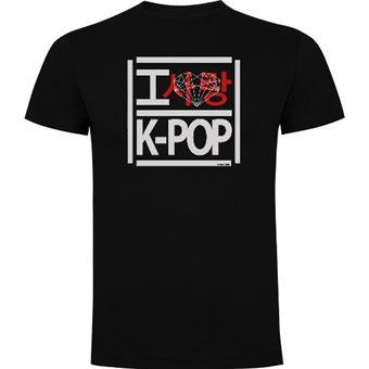 Camiseta K-POP Love Negro Talla XL
