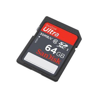 Sandisk SD 64GB ULTRA Tarjeta de Memoria