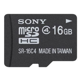 Sony Micro SD HC 16 GB  Clase 4 + Adapatador Tarjeta de Memoria