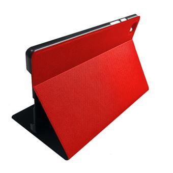 Funda con soporte SilverHT Wave Rojo para Samsung Galaxy Tab A7 2020