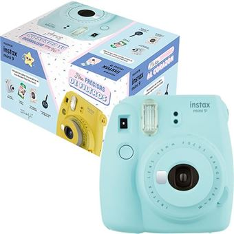 Cámara instantánea Fujifilm Instax Mini 9 Azul hielo + Mr Wonderful Pack