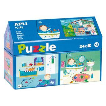 Puzzle Apli 24 piezas de cartón La Casa