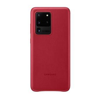 Funda de piel Samsung Rojo para Galaxy S20 Ultra