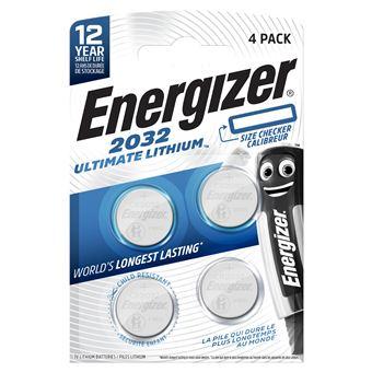 Pilas Energizer Ultimate Lithium CR2032 - 4 unidades