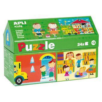 Puzzle Apli 24 piezas de cartón El Cole