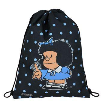 Mochila saco plana Mafalda Lunares