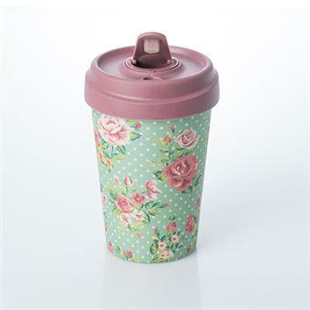 Taza de caf para llevar bamboocup vintage roses for Cafe para llevar