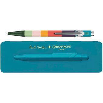 Bolígrafo Caran d'Ache Paul Smith + estuche azul pavo real