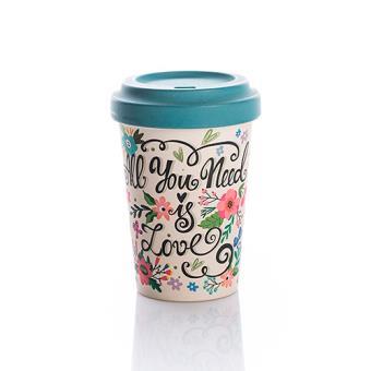 Taza de café para llevar Bamboocup All You Need Is Love