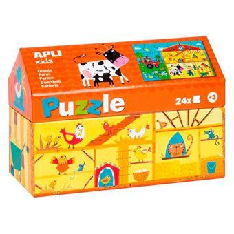 Puzzle Apli 24 piezas de cartón La granja