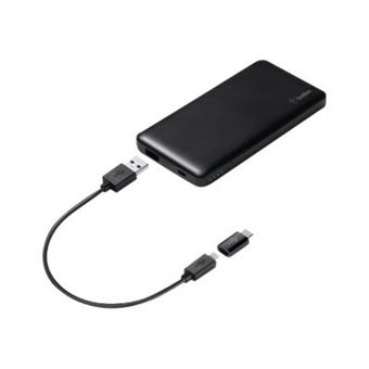 Powerbank Belkin Pocket Power 15K 5000 mAh Negro + adaptador USB C a micro USB