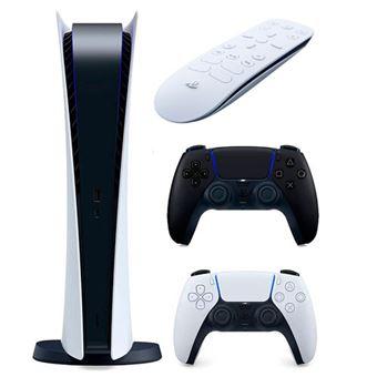 Consola PS5 Digital + 2 mandos DualSense + Mando a distancia