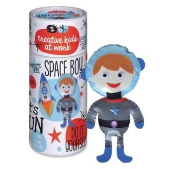 Tubo hazlo tú mismo Astronauta + cohete