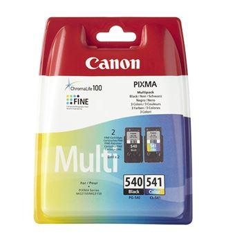 Canon 540 + 541 Pack tinta negra + tricolor