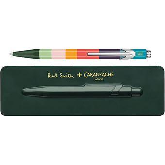 Bolígrafo Caran d'Ache Paul Smith + estuche verde oscuro