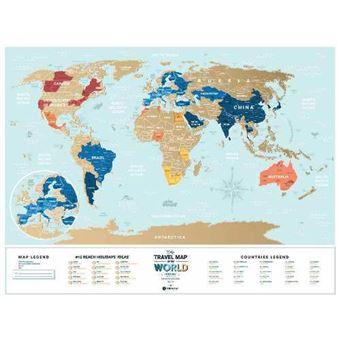 Mapamundi Para Rascar 1dea Me Viaje Vacaciones Por El Mundo 60 X