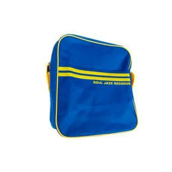 """Bolsa para vinilos Soul Jazz 12"""" azul y amarillo"""