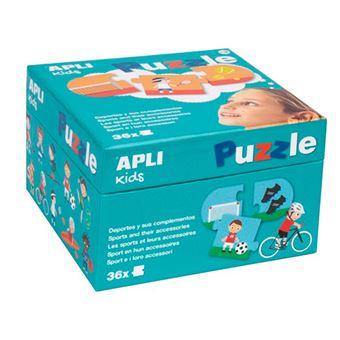 Puzzle Apli 36 piezas de cartón Deportes y sus complementos