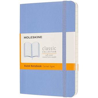 Cuaderno Moleskine Classic pocket rayas tapa blanda azul hortensia
