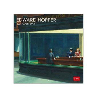 Calendario de pared 2021 Legami 18x18 cm Edward Hopper