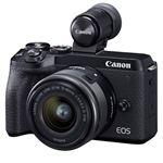 Cámara EVIL Canon EOS M6 Mark II + EF-M 15-45mm f/3.5-5.6 IS STM + Visor Electrónico EVF-DC2 Kit