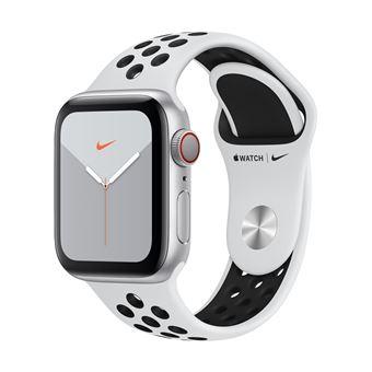 Apple Watch S5 Nike 40 mm LTE Caja de aluminio en plata y correa Nike Sport Platino puro/Negro