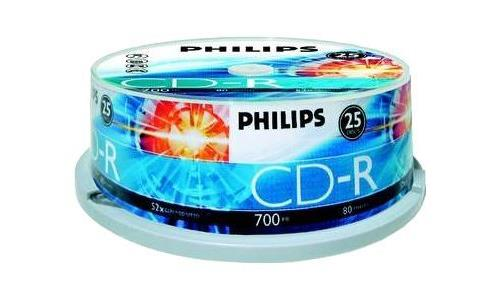 Philips CD-R CR7D5NB25 10 CD-RW vírgenes (CD-Recordable)
