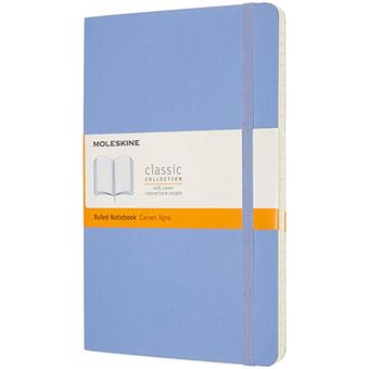 Cuaderno Moleskine Classic large rayas tapa blanda azul hortensia