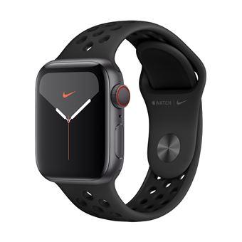 Apple Watch S5 Nike 40 mm LTE Caja de aluminio en  gris espacial y correa Nike Sport Antracita/Negro