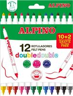 10+2 Rotuladores Double Double-Alpino
