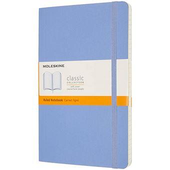 Cuaderno Moleskine Classic XL rayas tapa blanda azul hortensia
